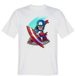Футболка Cartoon Captain America