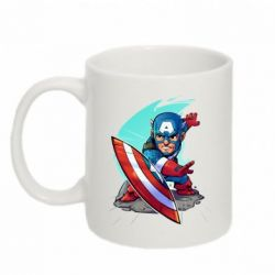 Кружка 320ml Cartoon Captain America