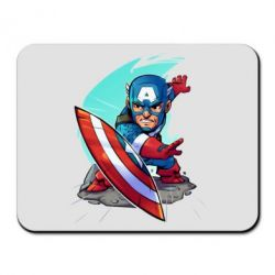Коврик для мыши Cartoon Captain America - FatLine