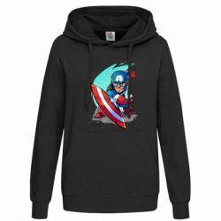Женская толстовка Cartoon Captain America - FatLine