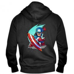 Мужская толстовка на молнии Cartoon Captain America