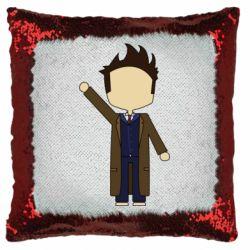 Подушка-хамелеон Cartoon Doctor Who