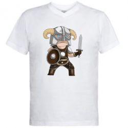 Мужская футболка  с V-образным вырезом Cartoon Dragonborn