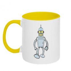 Кружка двухцветная Cartoons The Robot Bender