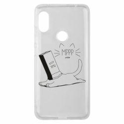 Чехол для Xiaomi Redmi Note 6 Pro Cat and a box of milk