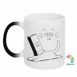 Кружка-хамелеон Cat and a box of milk