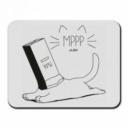 Коврик для мыши Cat and a box of milk