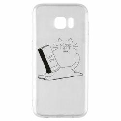Чехол для Samsung S7 EDGE Cat and a box of milk