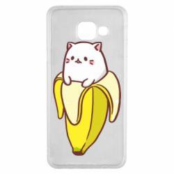 Чехол для Samsung A3 2016 Cat and Banana