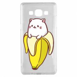 Чехол для Samsung A5 2015 Cat and Banana