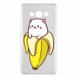 Чехол для Samsung A7 2015 Cat and Banana