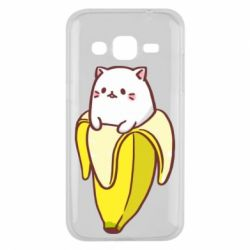 Чехол для Samsung J2 2015 Cat and Banana