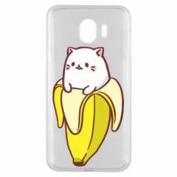 Чехол для Samsung J4 Cat and Banana