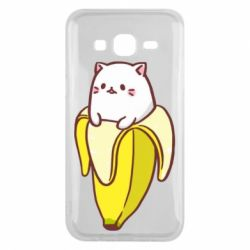 Чехол для Samsung J5 2015 Cat and Banana