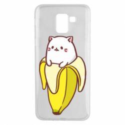 Чехол для Samsung J6 Cat and Banana