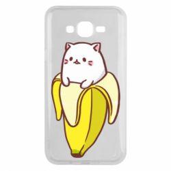 Чехол для Samsung J7 2015 Cat and Banana