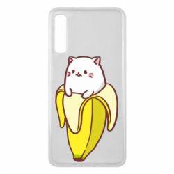 Чехол для Samsung A7 2018 Cat and Banana