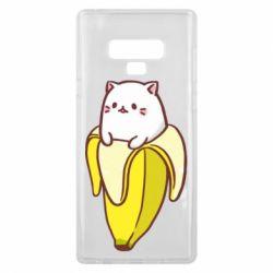 Чехол для Samsung Note 9 Cat and Banana