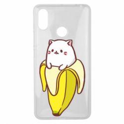 Чехол для Xiaomi Mi Max 3 Cat and Banana
