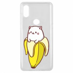 Чехол для Xiaomi Mi Mix 3 Cat and Banana