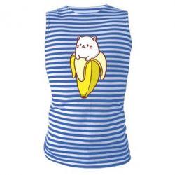 Майка-тельняшка Cat and Banana