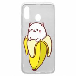 Чехол для Samsung A20 Cat and Banana