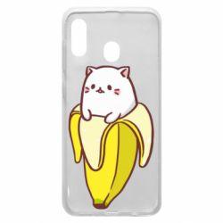 Чехол для Samsung A30 Cat and Banana