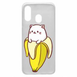 Чехол для Samsung A40 Cat and Banana