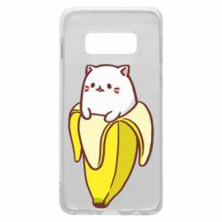 Чехол для Samsung S10e Cat and Banana