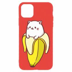 Чехол для iPhone 11 Cat and Banana