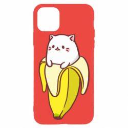 Чехол для iPhone 11 Pro Cat and Banana