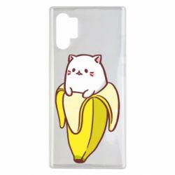 Чехол для Samsung Note 10 Plus Cat and Banana