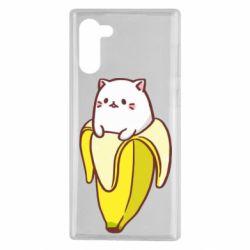 Чехол для Samsung Note 10 Cat and Banana