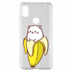 Чехол для Xiaomi Redmi S2 Cat and Banana