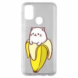 Чехол для Samsung M30s Cat and Banana