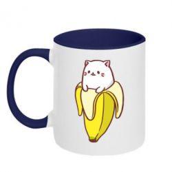 Кружка двухцветная 320ml Cat and Banana