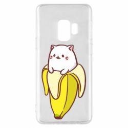 Чехол для Samsung S9 Cat and Banana