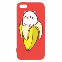 Чехол для iPhone5/5S/SE Cat and Banana