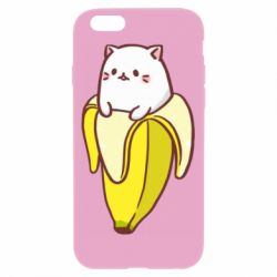Чехол для iPhone 6/6S Cat and Banana