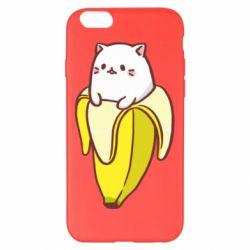 Чехол для iPhone 6 Plus/6S Plus Cat and Banana