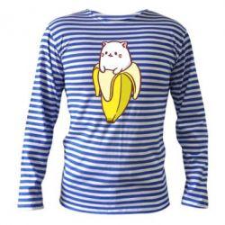 Тельняшка с длинным рукавом Cat and Banana