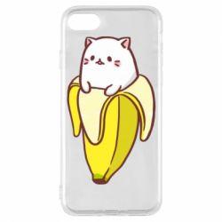 Чехол для iPhone 8 Cat and Banana