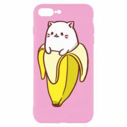 Чехол для iPhone 8 Plus Cat and Banana