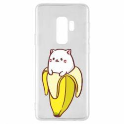 Чехол для Samsung S9+ Cat and Banana