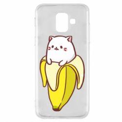 Чехол для Samsung A6 2018 Cat and Banana