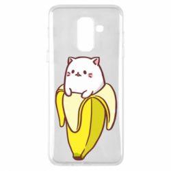 Чехол для Samsung A6+ 2018 Cat and Banana