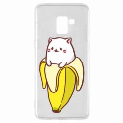 Чехол для Samsung A8+ 2018 Cat and Banana
