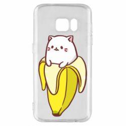 Чехол для Samsung S7 Cat and Banana