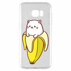 Чехол для Samsung S7 EDGE Cat and Banana