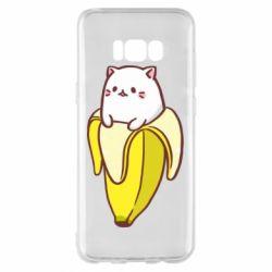 Чехол для Samsung S8+ Cat and Banana